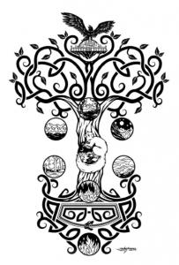 norse mythology and yggdrasil the world tree