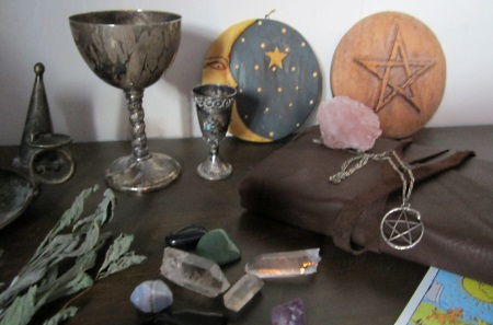 spells supplies and witchcraft altars